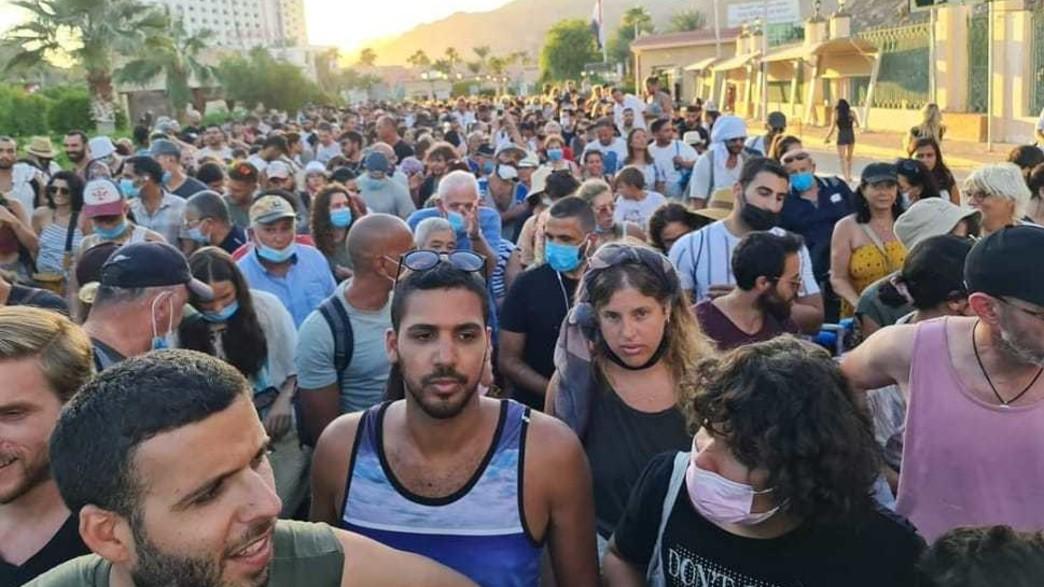 הישראלים בדרך הביתה מסיני (צילום: צילום מסך)