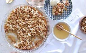 עוגת קראמבל תפוחים (צילום: טליה הדר , אשת סטייל)