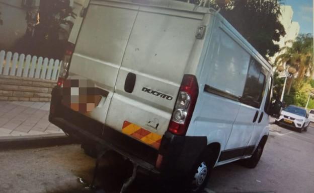 העובד פוטר וכנקמה הצית את מכוניתו של הבוס (צילום: באדיבות משטרת ישראל)