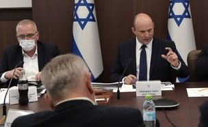 """ראש הממשלה בנט בקבינט הקורונה (צילום: קובי גדעון , לע""""מ)"""