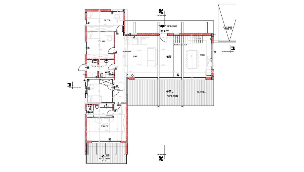 בית בשרון, עיצוב רון שנקין ואורלי מור, תוכנית אדריכלית