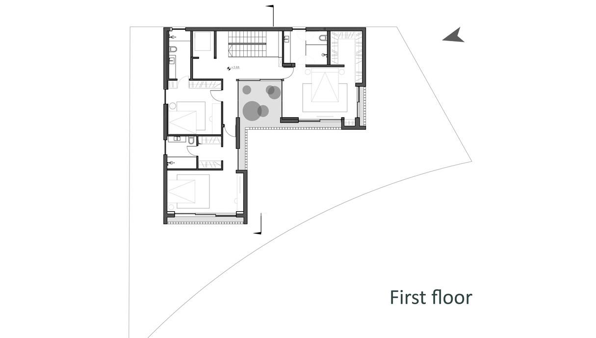 בית במרכז, לוין-פקר אדריכלים, תוכנית אדריכלית קומה עליונה - 3