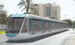הרכבת הקלה בבאר שבע (הדמיה: עיריית באר שבע)