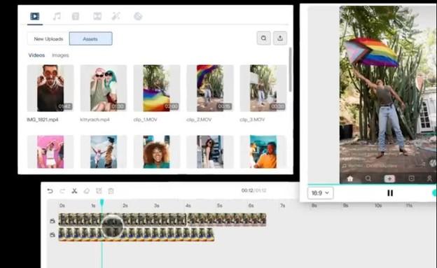 עורך וידיאו טיקטוק (צילום: צילום מסך)