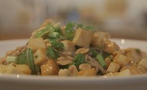 סלט אטריות סובה ברוטב טחינה יפני (צילום: אמהות מבשלות ביחד, ערוץ 24 החדש)