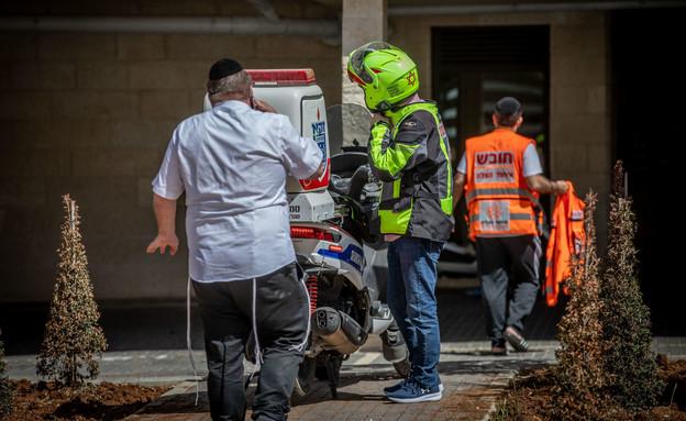 זירת האירוע יהודה משי זהב  (צילום: Yonatan SindelFlash90, פלאש 90)