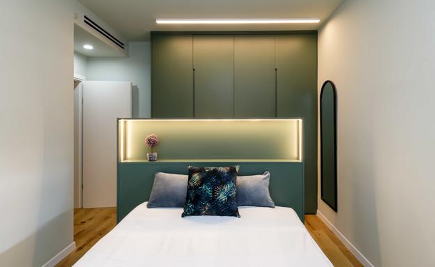 חדרי שינה קטנים, עיצוב שרי גבעון - 1 (צילום: יואל אליווה)