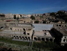 האתר הארכיאולוגי בהרקולנאום (צילום: reuters)