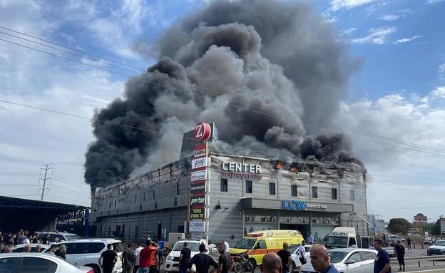 שרפה בקלנסווה (צילום: כבאות והצלה)