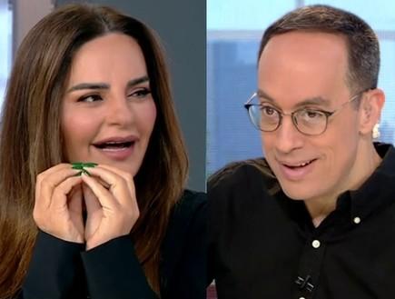 אופירה אסייג וניב רסקין (צילום: מתוך חדשות הבוקר - קשת 12)