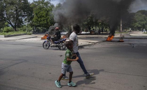 מהומות בהאיטי (צילום: AP)