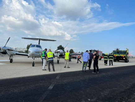 נחיתת חירום של מטוס קל בחיפה