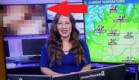 פדיחה בתחזית מזג האוויר (צילום: KREM 2 news)