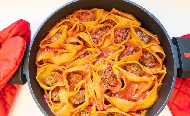 קונכיות פסטה ממולאות בשר (צילום: פאני דוד, אוכל טוב)