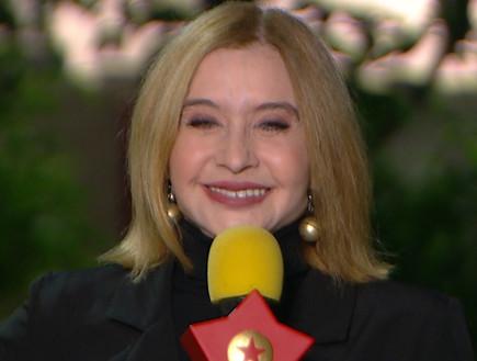 """התות בראיון ראשון אחרי החשיפה (צילום: מתוך """"ערב טוב עם גיא פינס"""", קשת 12)"""