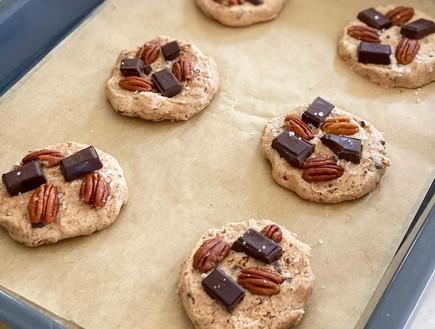 עוגיות פקאן עם שוקולד (צילום: תומר אומנסקי)